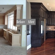 New kitchen Before and after
